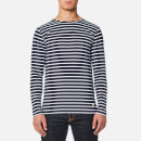 Armor Lux Men's Sailor Shirt Long Sleeve Top - Navire Blanc