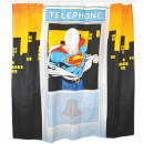 DC Comics Superman Telephone Box Shower Curtain