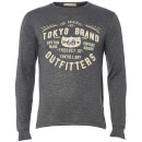 Tokyo Laundry Men's Timperley Jersey Long Sleeve Top - Charcoal
