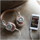 Master and Dynamic MH40 Over Ear Headphones - Silver/Brown