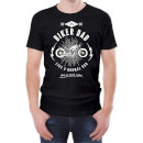 Biker Dad Men's Black T-Shirt