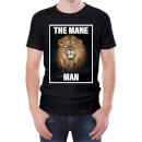 The Mane Man Men's Black T-Shirt