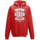 Does My Beard Look Big In This Men's Red Hoodie - S - Red