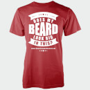 Does My Beard Look Big In This Men's Red T-Shirt - S - Punainen