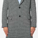 AMI Men's Two Button Tailored Coat - Black/White