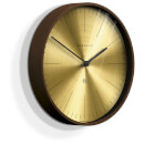 Newgate Mr Clarke Wall Clock - Dark Wood - Brass Dial