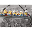 Despicable Me Minions Lunch on a Skyscraper 85 x 120cm Canvas Print