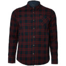 Brave Soul Men's Duffey Check Shirt - Navy/Red/Blue