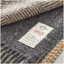 Avoca Heavy Herringbone Throw - Peat - 142 x 183cm