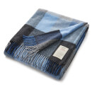 Avoca Lambswool Throw - Denim - 142cm x 183cm