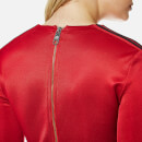 Versus Versace Women's Long Sleeve Sporty Dress with Zip Back - Red