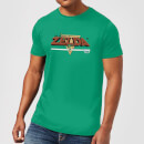 Nintendo The Legend Of Zelda Retro Logo Men's Green T-Shirt