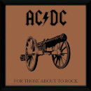 AC/DC For Those About To Rock - 12 x 12 Inches Framed Album Print