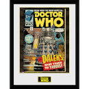 Doctor Who Daleks Tardis Comic - 16 x 12 Inches Framed Photograph