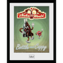 Fallout Bottle and Cappy - 16 x 12 Inches Framed Photograph