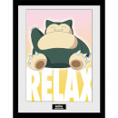 Pokémon Snorlax - 16 x 12 Inches Framed Photograph