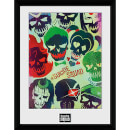 Suicide Squad Skulls - 16 x 12 Inches Framed Photograph