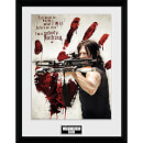 The Walking Dead Bloody Hand Daryl - 16 x 12 Inches Framed Photograph