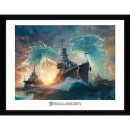 World of Warships Dragons - 16 x 12 Inches Framed Photograph