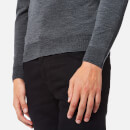 John Smedley Men's Cherwell 30 Gauge Extra Fine Roll Neck Jumper - Charcoal