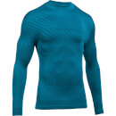 Under Armour Men's Striped Compression Long Sleeve Top - Blue