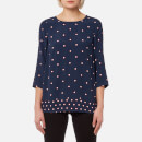 Joules Women's Leah Woven Printed Top - French Navy Top