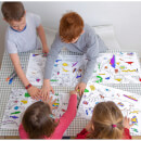 Doodle World Map Placemats - Set of 4 with 10 Wash Out Pens