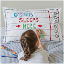 Doodle Notebook Pillowcase with 10 Wash Out Pens
