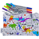 Doodle Dinosaur Pencil Case with 10 Wash Out Pens