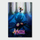 Nintendo Legend Of Zelda Majoras Mask Forest Chromalux High Gloss Metal Poster