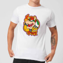 Nintendo Super Mario Bowser Kanji Men's T-Shirt - White