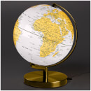 Wild Wood 10 Inch Globe Light - Metallic Brass/Arctic White
