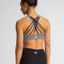 M - Crossback Crop Top - Charcoal