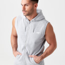 Tru-Fit Sleeveless Hoodie - S - Grey Marl