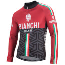 Bianchi Montalto Long Sleeve Jersey - Red/Black