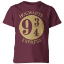 Harry Potter Platform Kinder T-Shirt - Burgundy