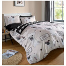 Dreamscene Walkies Pug Duvet Set - Multi