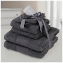 Highams 100% Cotton 6 Piece Towel Bale (500GSM) - Charcoal