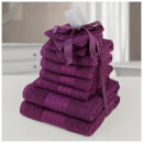 Highams 100% Cotton 10 Piece Towel Bale (500GSM) - Purple
