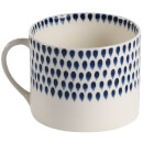 Nkuku Indigo Drop Mug - Cream and Indigo