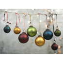 Nkuku Oko Christmas Baubles - Large (Set of 4)