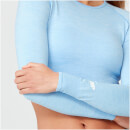 Top Curto Shape Seamless - XL - Light Blue Marl