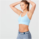Shape Seamless Sports Bra - L - Light Blue Marl