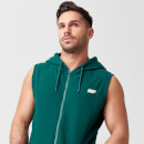 Tru-Fit Sleeveless Hoodie - XS - Dark Green