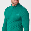 Sculpt Seamless ¼ Zip-Top - S - Dark Green