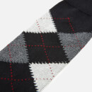 Pantherella Men's Turnmill Egyption Cotton Argyle Socks - Black