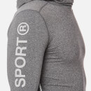 Superdry Men's Gym Sport Runner Hoody - Grey Grit