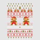 Nintendo Super Mario Mario Ho Ho Ho It's A Me Christmas Grey T-Shirt