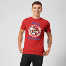 Nintendo Super Mario Mario White Wreath Merry Christmas Red T-Shirt