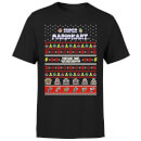 Nintendo Mario Kart Christmas Here We Go Black T-Shirt